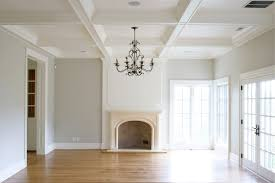 coffered ceiling transitional