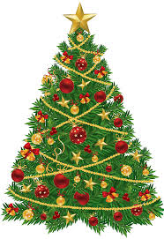 Large Transparent Christmas Tree with Red and Gold Ornaments Clipart    Gallery Yopriceville - High-Quality Images and Transparent PNG Free Clipart