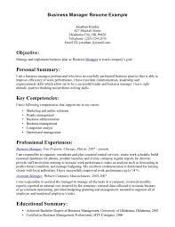 Business Management Resume Business Management Resume Samples