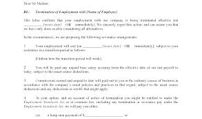 Severance Pay Agreement Template Free Termination Letter