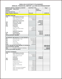 Pta Templates Annual Financial Report Template Pta Templates For Word Art