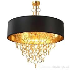 black and gold chandelier modern chandeliers with black drum shade pendant light gold rings drops in black and gold chandelier