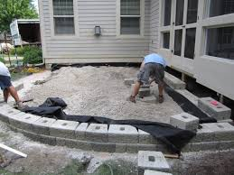 how to install a flagstone patio with irregular stones diy network a raised cement