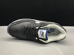 interesting nike air max 90 leather black white blue women s men s casual shoes sneakers