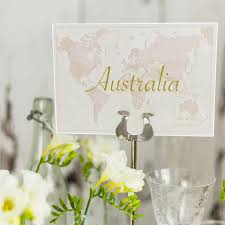 antique world countries wedding table name cards place cards