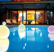 mood lighting ideas. Pool Mood Lighting Design With Water Proof Ball Led Lamp Ideas