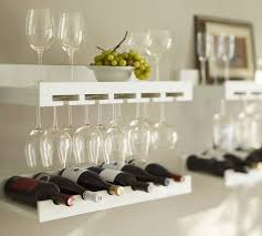 wine glass rack pottery barn. Wonderful Pottery These Entertaining Shelves From Pottery Barn Come In White As Well I Love  The Contrast On Wine Glass Rack E
