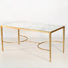 marble living room tables. rectangle antique gold coffee tables with white marble top for living room decor ideas e