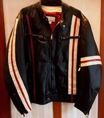 vtg wilsons leather m julian red black moto cafe racer motorcycle jacket xl 1 of 5 see more