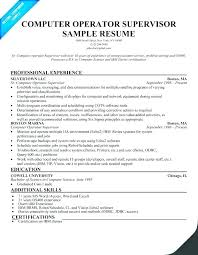 Sample Resume For Computer Operator Best of Resume For Computer Operator Chemical Operator Resume Production