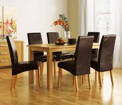 Dining Room Table Sets Leather Chairs Collection Unique Inspiration Design