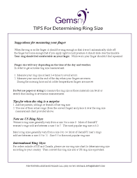 Us Ring Size Chart Women S Sample Ring Size Chart Free Download