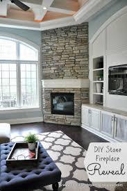 fireplace in corner tv in built ins