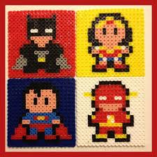 mini superman fuse bead pattern google search fuse bead dunkin donuts inspired coasters and box perler beads by autumnsuntreasures