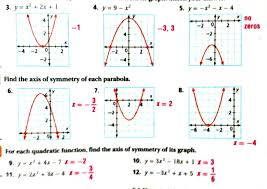 graphing quadratic functions in standard form image collections properties of quadratic functions in standard form worksheet