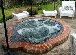in ground jacuzzi. In Ground Jacuzzi Hot Tub Filter Repair For This Mosaic Tiled Spa N