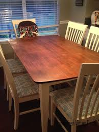 general finishes gel stain in java for table top annie sloan chalk paint on base and chairs