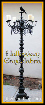 A floor Candelabra for Halloween