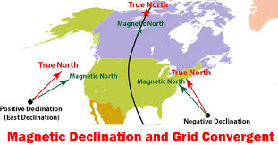 Magnetic Declination Chart Magnetic Declination And Grid Convergent And Their