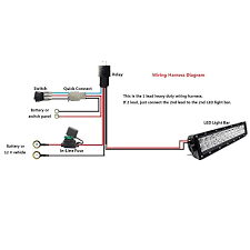 similiar led bar wiring keywords awg waterproof offroad led light bar wiring kits for high watt led bar