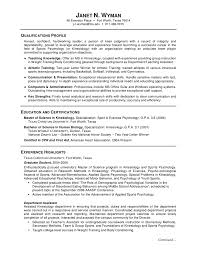 Sample Resume Format For College Students Sample Resume With No