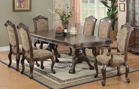 ANDREA COLLECTION - Andrea Traditional Brown and Cherry Dining Table