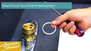 how to replace the spout seal kit for your reliant faucet