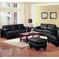 black living room sets. 2 Piece Modern Black Bonded Leather Sofa And Loveseat Livingroom Set Living Room Sets O