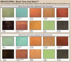 Brickform Acid Stain Color Chart 15 Best Concrete Images Concrete Stained Concrete