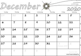 December 2020 Usa Calendar Free Printable Pdf