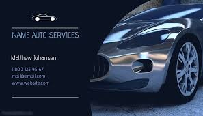 Auto Services Business Card Template Postermywall