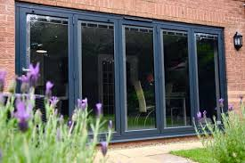 bifolding doors with integral glass