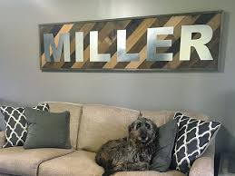 metal lettering wall art