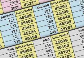 Conversion Chart Appleton Wool To Dmc 2019