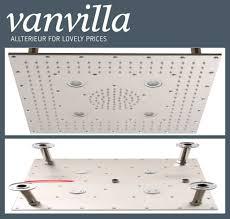 Duschkopf Vanvilla Slim Design Led 40cm X 40cm Edelstahl