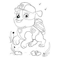 Chase Paw Patrol Free Coloring Pages Rubble Page Super Spy Thinkiqco