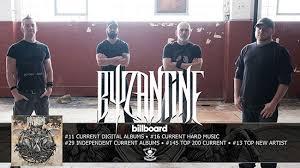 Byzantine Enters Billboard Charts For New Album The Cicada