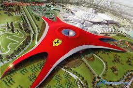 The building itself will house dark rides, cinemas and rides. Ferrari World Dubai Https Fairyqueentravel Com Ferrari World Ferrari World Abu Dhabi Ferrari