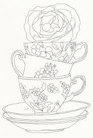 Black And White Tea Cups
