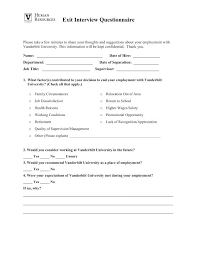 Employee Exit Interview Form Template Forms Termination Checklist ...