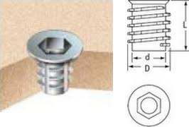 Cone- Shaped D Insert Nuts from 0,1 EUR: www.autoclamps.eu