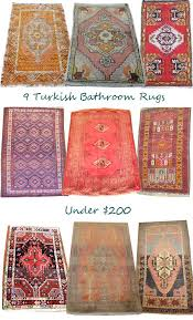 incredible long bathroom rugs bath and pertaining to rust with colored remodel 14