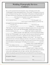 Photography Contracts 016 Wedding Photography Contracts Templates Template Ideas