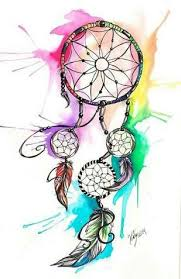 Rainbow Dream Catcher Drawing