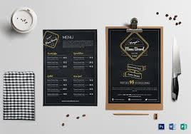 Menu Board Design Simple Restaurant Menu Board Template