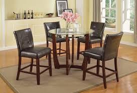 acme 77815 07055 5 pc baldwin walnut finish wood 45 round glass top counter