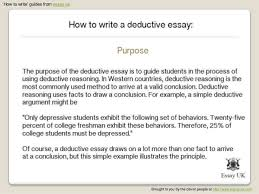 write deductive essays deductive essay writing help ideas topics examples