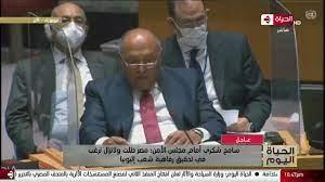 الحياة اليوم - كلمة سامح شكري وزير الخارجية أمام مجلس الأمن بشأن سد النهضة  الإثيوبي - YouTube