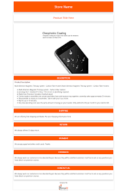 Listing Template Free Ebay Html Listing Template And Product Description Template