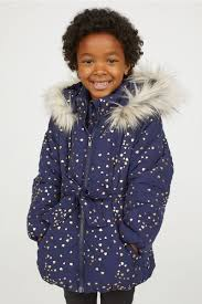 winter coats for girls belted puffer at h m
